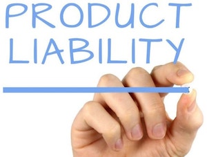 Product Liability sign